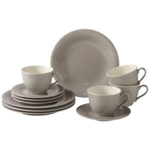 Like by Villeroy and Boch Color Loop Stone Breakfast Set 12pcs - 19-5282-9028 - La Belle Table