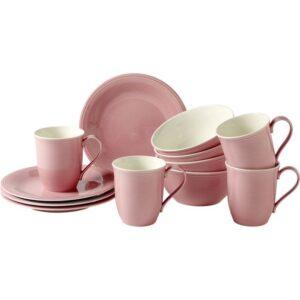 Like by Villeroy and Boch Color Loop Rose Breakfast Set 12pcs - 19-5281-9028 - La Belle Table